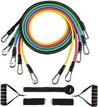 XWXBB weerstandsbandenset, fitnessbanden, weerstandsbanden, yoga-weerstandsbanden, 5 oefenbanden, handgrepen, deuranker, e...