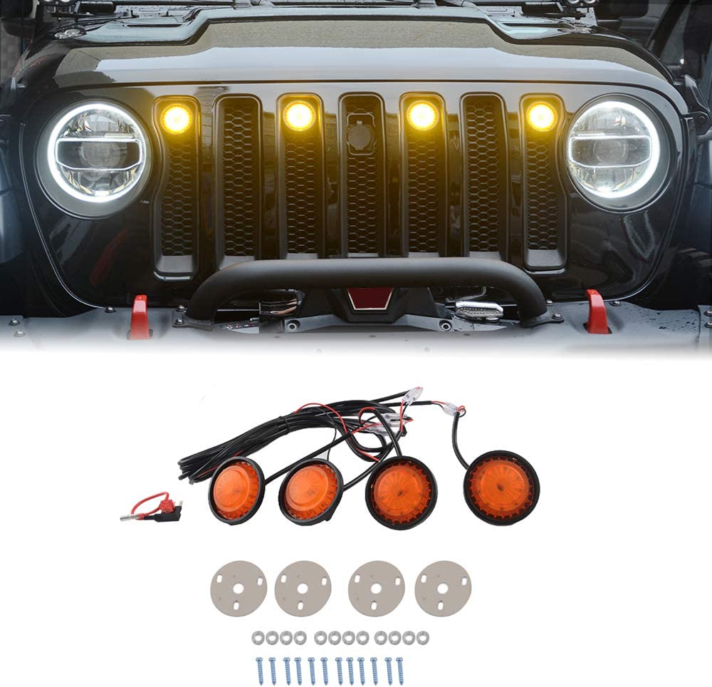 Z8LED Original Grille Light with Fuse for Wrangler JL Fits Max Recommended 87% OFF Jeep