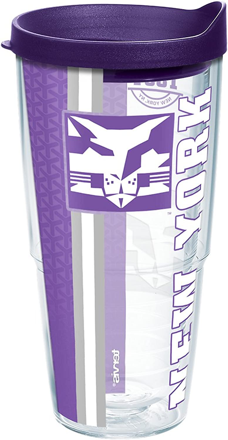 Tervis New York Univ College Pride Wrap 24oz Tumbler with Royal Purple Lid, Clear