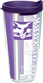 Tervis NYU Violets College Pride Tumbler with Wrap and Royal Purple Lid 24oz, Clear