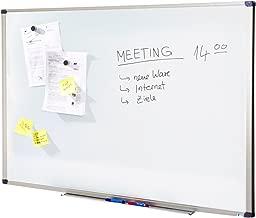 Tableau Magnétique | Tableau Blanc Master of Boards® Élu Meilleur Rapport Qualité/Prix - Serie ECO | Tableau Aimanté | Tableau Memo Cadre Alu | 80x110cm