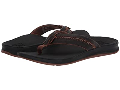 Reef Leather Ortho-Bounce Coast (Black/Brown) Men