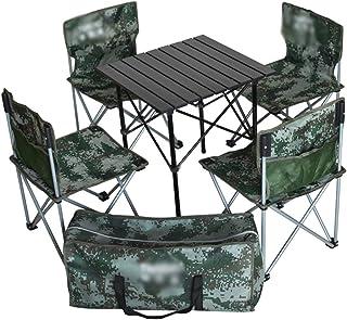 Table Pique-Nique Tables Chaises Pliantes Camping Table Et Chaise Pliantes Portables, Ensemble De Table en Alliage D'alumi...