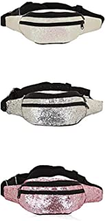 USA Metallic Glitter Fanny Packs for Girls and Women