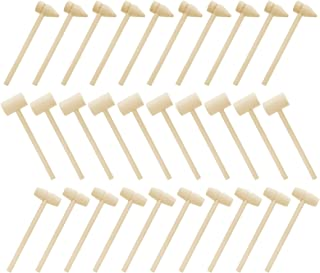 BESPORTBLE 30 Pcs Multi- Purpose Mallets Mini Wooden Hammers Mini Wooden Hammers Mallet Pounding Toy Baby Educational Play...