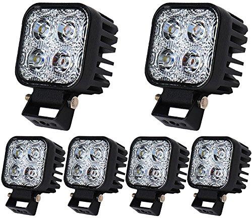 Greenmigo 6pcs 12W LED Scheinwerfer Flutlicht Rückfahrscheinwerfer IP67 Wasserdicht Arbeitsscheinwerfer 12V 24V