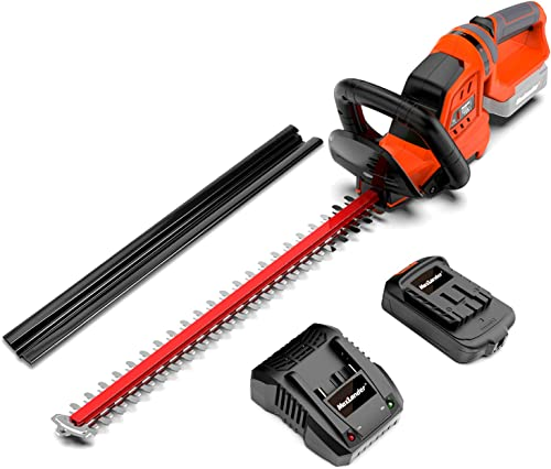 """high quality MAXLANDER online Cordless Hedge Trimmer with 22""""Dual-Action Blade, Include 20V high quality 2.0Ah Battery and Fast Charger outlet sale"""
