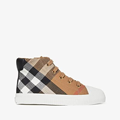 Burberry Kids Belford Check Trainer (Toddler/little Kid) (Classic/Optic White) Kid