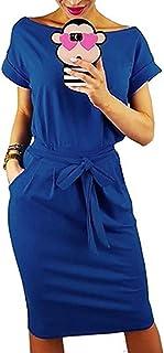 Auxo Mujer Vestidos Mujer Verano Manga Corta Vestido Sudadera Deportivo Vestido Sudadera Talla Grande Túnica Camiseta Larga