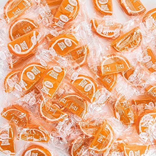 Funtasty Gourmet Jelly Slices, Orange Flavored Individually Wrapped Bulk Candy, 2 Lbs