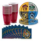 "Harry Potter Party Supplies for 32 - Large Dinner Plates 9"", Luncheon Napkins 6.5"", Plastic Cups 16oz. - Great for Harry Potter & Wizard Themed Birthday Party Decor & Tableware"