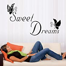Coohole Hot Sweet Dreams Butterfly Love Quote Wall Stickers Bedroom Removable Decals DIY