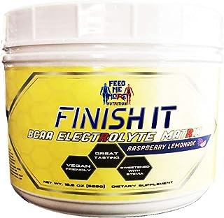 Finish It Premium Stevia BCAA Electrolyte Matrix Raspberry Lemonade #1 BCAA No Artificial Sweeteners/Colors, Vegan/Keto Fr...