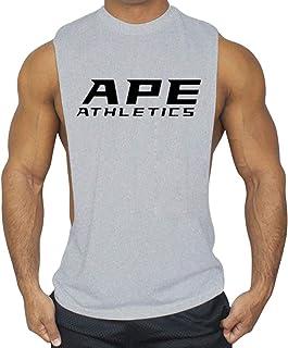 Anmurタンクトップ メンズ トレーニング ノースリーブ 綿 筋トレ マッスルフィット スポーツインナー ボディビル