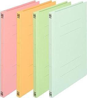 プラス フラットファイル A4縦(A3書類二つ折り収容)4色セット NO.025F