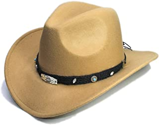 Xiang Ye New Women Men Wool Hollow Western Cowboy Hat Roll-up Wide Brim Cowgirl Jazz Equestrian Sombrero Cap With Fashion Band
