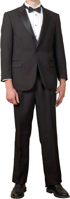 Broadway Tuxmakers Mens 2 Pc. Black Notch Collar Tuxedo Suit (36S)