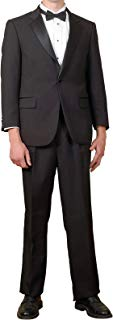 Mens 2 Pc. Black Notch Collar Tuxedo Suit