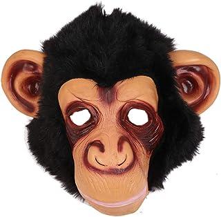 Amosfun Chimp Mask novità Halloween Costume Party Animal Head Mask Monkey Copricapo Orangutan Maschera Scary Party Mask Di...