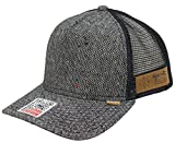 DJINNS TRUCKER CAP - SPOTTED TWEED 2013 - BLACK Größentabelle One-size-fitts-all