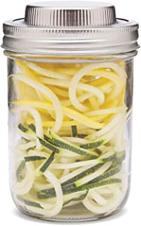 Jarware 3 in 1 Mason Jar Spiralizer, Wide Mouth, Stainless Steel
