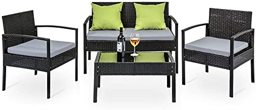Gardeon 4 Seater Sofa Set Outdoor Furniture Lounge Setting Wicker Chairs Table Rattan Lounger Bistro Patio Garden Cushions...