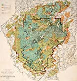 Adirondacks Historic Map, The Proposed Adirondack Park, c1890, Vintage Wall Art, 16in x 16in