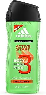Adidas Active Start 3 i 1 för Män – Livlig Duschgel för Kropp, Hår och Ansikte – Ph-Hudvänlig – 1-Pack (1 x 250 ml)