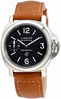 Panerai Mens Swiss Automatic Watch with Ceramic Strap, Black (Model: PAM01005