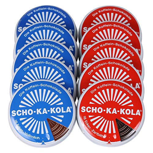 SCHO-KA-KOLA - Zartbitter 5er Pack (5 x 100g) und Vollmilch 5er Pack (5 x 100g)