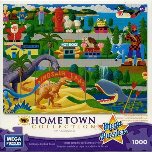 Mega Puzzles  Hometown Collection 1000 piece Roadside Icons Puzzle by Mega Puzzles