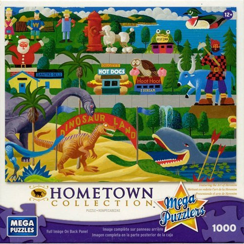 Mega Puzzles: Hometown Collection 1000 piece Roadside Icons Puzzle by Mega Puzzles