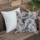 Dekokissen Kissenhülle,Flamingo, Flamingos Muster Blätter und Blüten tropische Pflanzen auf...