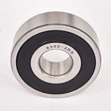 2PACK ZH Precision 6302-2RS Bearings 15x42x13mm, Stable Performance and Cost-Effective, Double Seal and Pre-Lubricated, Deep Groove Ball Bearings