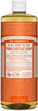 Dr. Bronner's - Pure-Castile Liquid Soap (Tea Tree, 32 ounce) - Made with Organic Oils, 18-in-1 Uses: Acne-Prone Skin, Dandruff, Laundry, Pets and Dishes, Concentrated, Vegan, Non-GMO