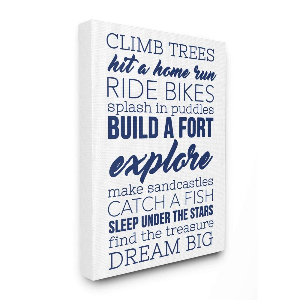 Stupell Home Décor Climb Trees Dream Big Oversiz Free Shipping Cheap Bargain Gift Max 69% OFF with Navy White