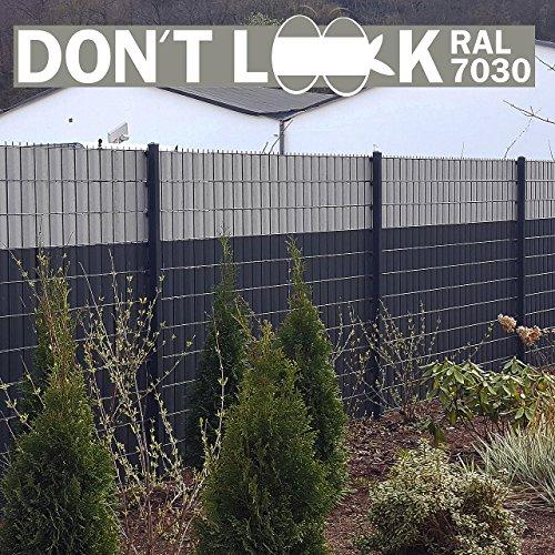 HAGAFREI DON'T LOOK Blickdichter Zaun-Sichtschutz und Lärmschutz für Doppelstabmatten, 1 Rolle à 35 m x 19 cm für insg. 7 m², Sichtschutzstreifen, Zaunfolie