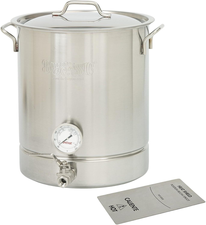Bayou Classic 800-432 Stainless Steel 8 Gallon Brew Kettle Set, 32 Quart