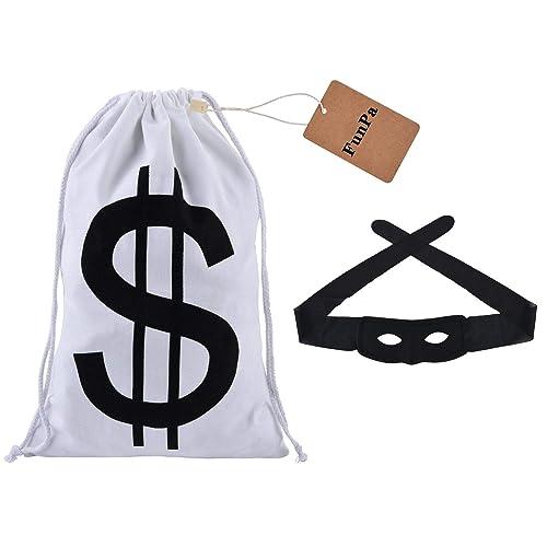 Burglar Costume Bag /& Gloves 3pc Tigerdoe Robber Costume Bandit Mask