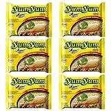 Fideos o noodles instantáneos Yum Yum sabor a pollo - pack de 6 unidades