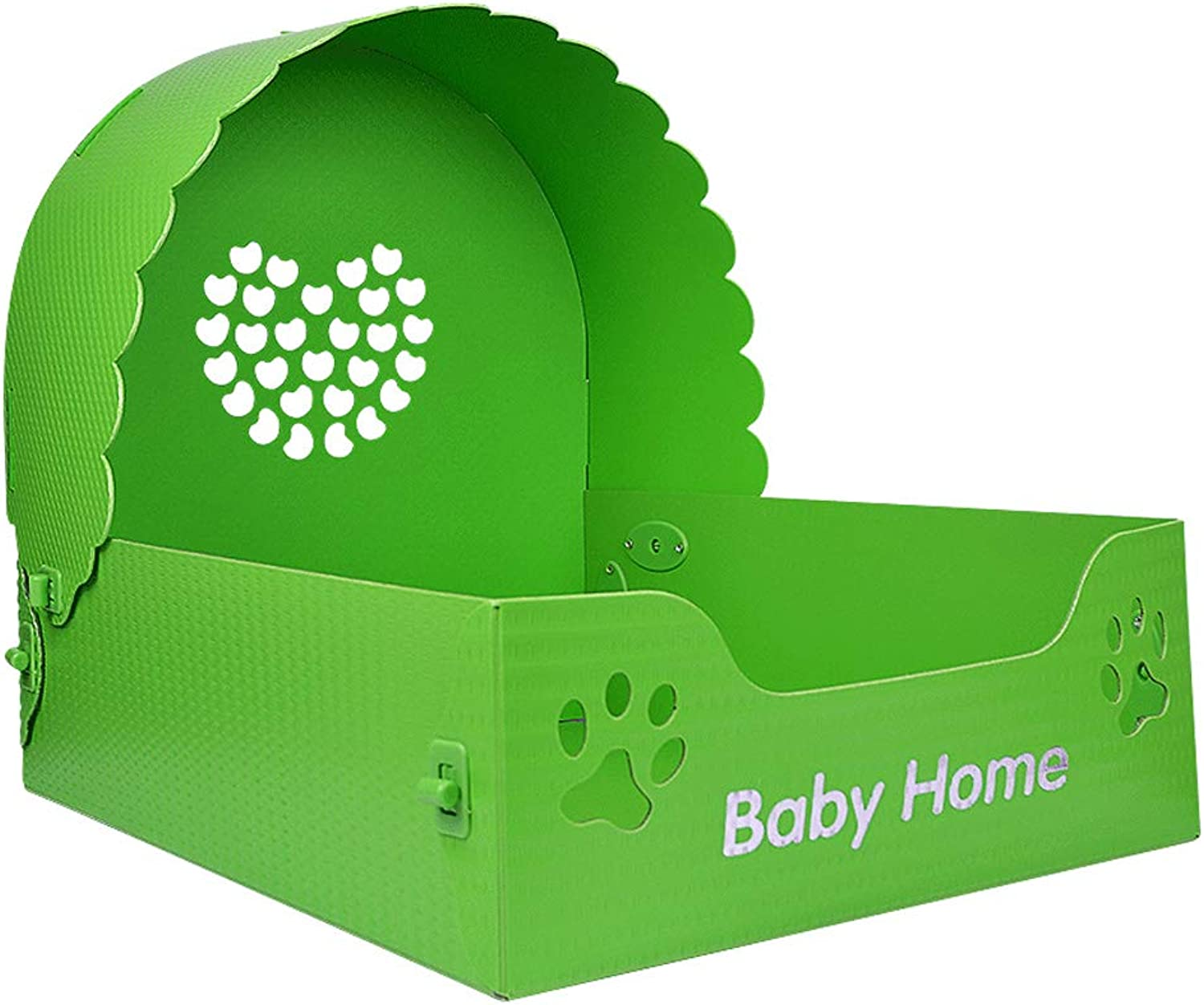 LITING Kennel Removable And Washable Cat Princess Bed Pet Nest Cat Litter Four Seasons Bomei Dog Bed Dog Supplies Pet Bed (color   Green, Size   S 48  36  40cm)