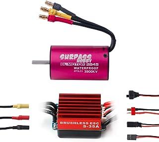 RCRunning BL2845 3900KV 3.175mm Brushless Motor Waterproof Sensorless with 35A Brushless ESC Combo Set for 1/12 1/14 1/16 ...