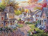 Bernice Winifred Puzzles pour Adultes Grand Puzzle, Puzzle de paysages Vintage de peintures (Maison dans Les Bois) -500 pièces