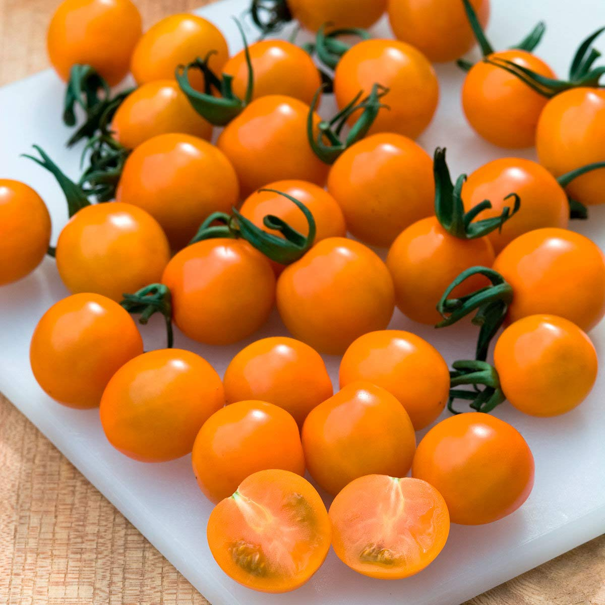 Risitar Garden - Rare 100pcs Orange Tomato Seeds - F1 Sungold (Lycopersicon esculentum) High yielding Seeds Easy to Grow, Exotic Vegetable Seeds Hardy Perennial Garden