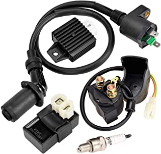 HIAORS Gy6 Ignition Coil AC CDI Box Solenoid Relay...