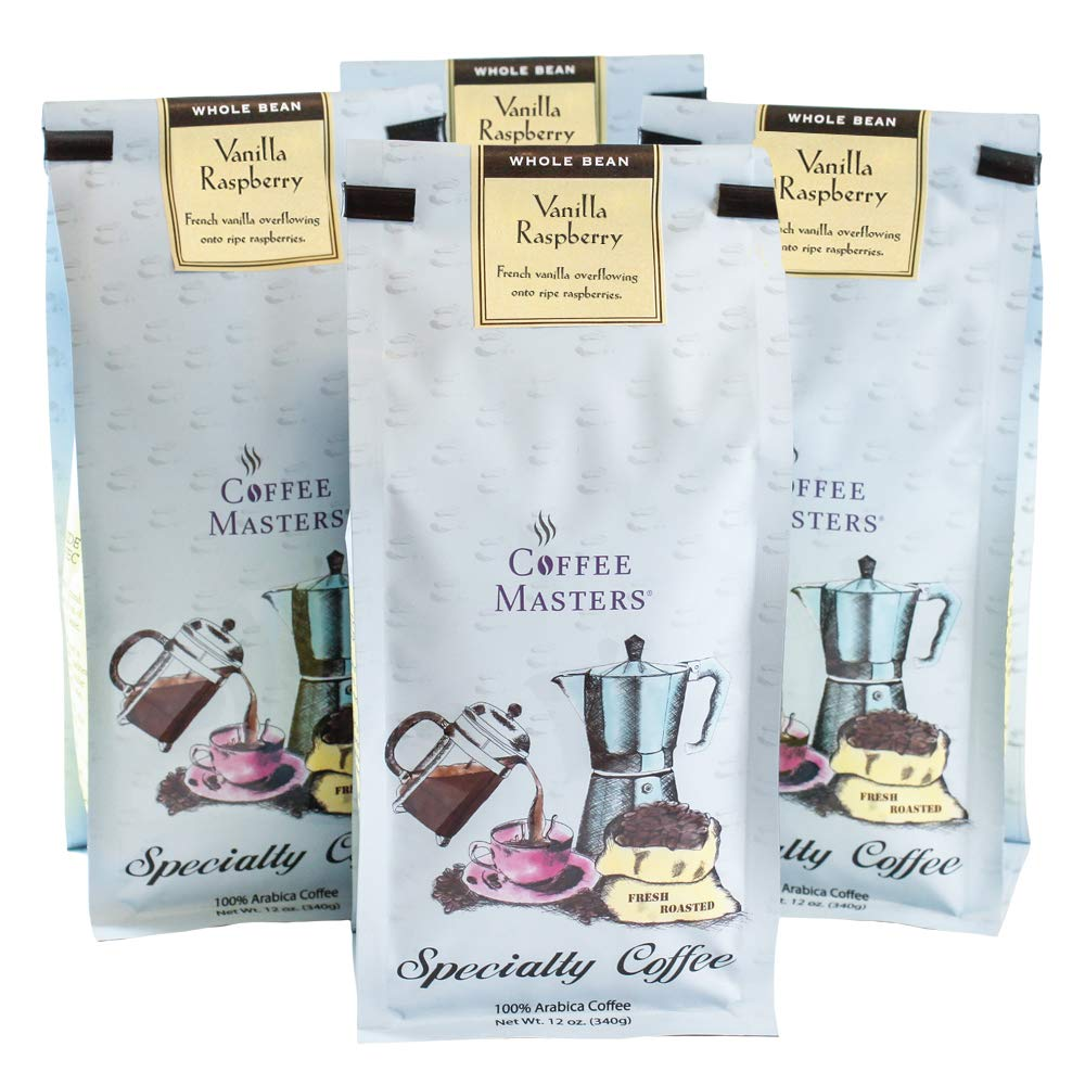 Coffee Masters Attention brand Flavored Vanilla Whole Bean 1 Raspberry Trust
