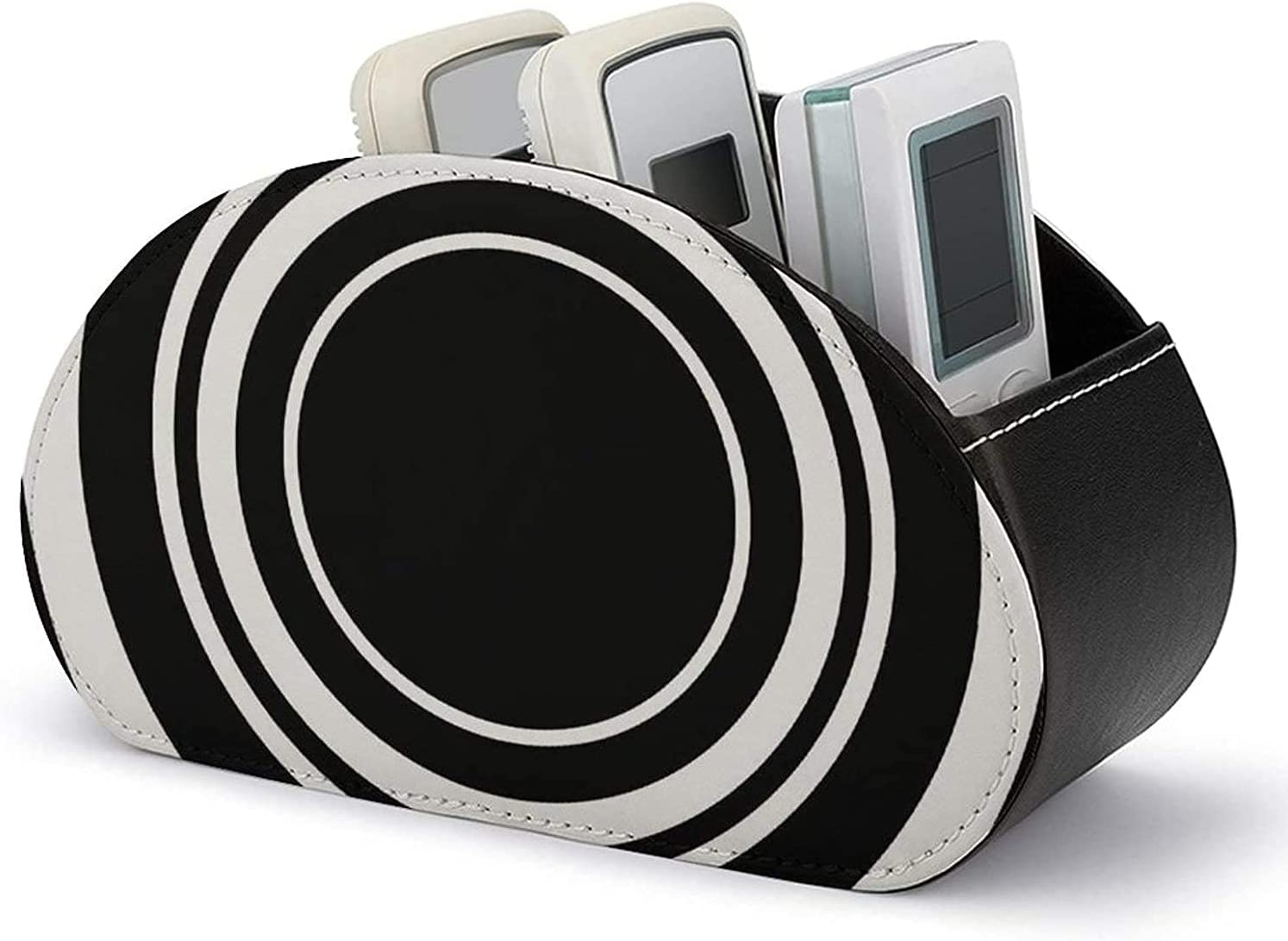 High quality new PU Leather Remote Brand new Control Holder and Christmas White Black Rings