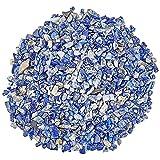 GKKXUE Acuarios Paisajismo Frenos de jarrones Natural Lapis Lazuli Chip Beads, Polidado Circlado Piedras de Piedras Preciosas Cristales ARRISTALES para LA Decoración, Guijarros para Plantas