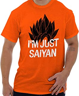 Brisco Brands Nerdy Im Just Saying Funny Goku Anime Pun T Shirt Tee