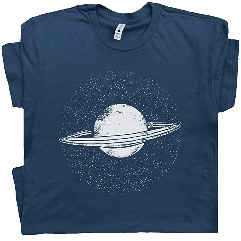 Saturn T Shirt Planet Solar System Shirts Pluto Astronomy Space Universe Haleys Comet Constellations Graphic